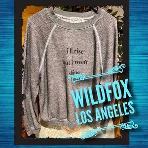Wildfox sweatshirt - grunge grey